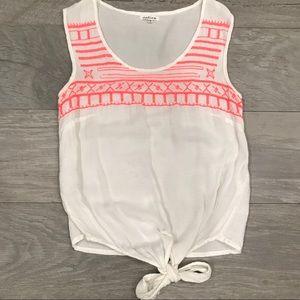 White and Pink Shirt